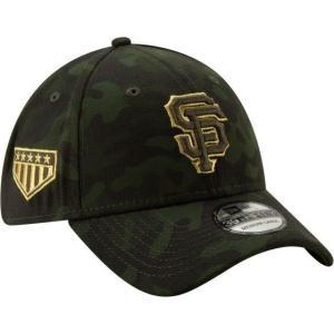 ニューエラ メンズ 帽子 キャップ Men's San Francisco Giants 39Thirty Armed Forces Stretch Fit Hat|sneakersuppliers