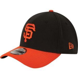 ニューエラ メンズ 帽子 キャップ Men's San Francisco Giants 39Thirty Alternate Classic Black Stretch Fit Hat|sneakersuppliers