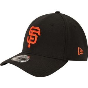 ニューエラ メンズ 帽子 キャップ Men's San Francisco Giants 39Thirty Classic Black Stretch Fit Hat|sneakersuppliers