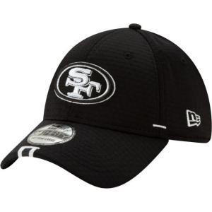 ニューエラ メンズ 帽子 キャップ Men's San Francisco 49ers Sideline Training Camp 39Thirty Stretch Fit Black Hat|sneakersuppliers