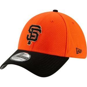 ニューエラ メンズ 帽子 キャップ Men's San Francisco Giants 39Thirty HexTech Batting Practice Stretch Fit Hat|sneakersuppliers