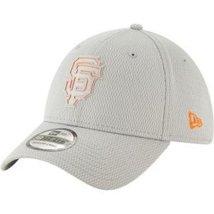 ニューエラ メンズ 帽子 キャップ Men's San Francisco Giants 39Thirty Clubhouse Grey Stretch Fit Hat|sneakersuppliers