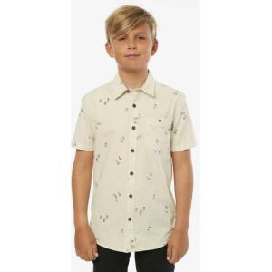 オニール ボーイズ シャツ トップス Boys' Freeequency Short Sleeve Button Up Shirt|sneakersuppliers
