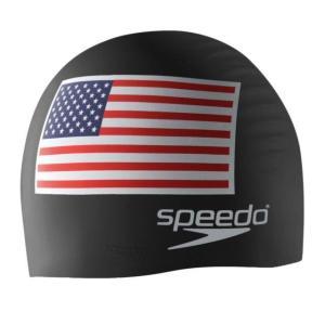 ユニセックス 帽子 キャップ Silicone Flag Swim Cap