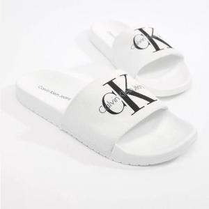 Calvin Klein カルバンクライン シャワーサンダル WHITE CANVAS サイズ:26.5cm|sneakersuppliers