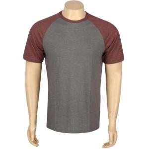 ユニセックス ティーシャツ RVCA Camby Raglan Tee (gray / charcoal)|sneakersuppliers