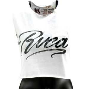 ユニセックス タンクトップ RVCA Women Ink Script Tee (white / vintage white)|sneakersuppliers