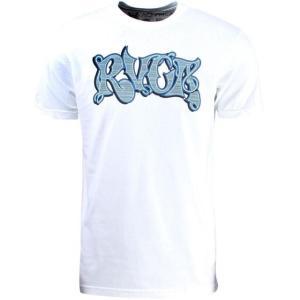 ユニセックス ティーシャツ RVCA Stripe Script Tee (white)|sneakersuppliers