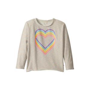 アパマン キッズ ガールズ パーカー Slouchy Sweatshirt - Love Rainb...