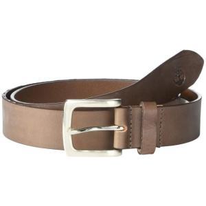 ティンバーランド ユニセックス ベルト Made in the USA' 35 mm Two-Tone Khaki Leather Belt sneakersuppliers
