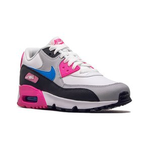 NIKE AIR MAX 90 LEATHER GS 833376-107 WHITE/BLACK/PINK BLAST/PHOTO BLUE ナイキ エア マックス 90 LTR (GS) ホワイト ピンク ブルー レディース スニーカー|sneeze|02