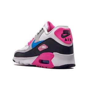 NIKE AIR MAX 90 LEATHER GS 833376-107 WHITE/BLACK/PINK BLAST/PHOTO BLUE ナイキ エア マックス 90 LTR (GS) ホワイト ピンク ブルー レディース スニーカー|sneeze|03