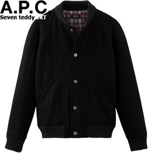 A.P.C. HOMME 2015 COLLECTION AUTOMNE SEVEN TEDDY JACKET BLACK h02188アーペーセー セブン テディー ジャケット ブラック APC メンズ|sneeze