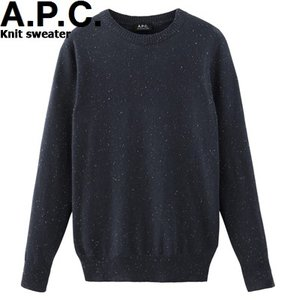 A.P.C. HOMME 2015 COLLECTION AUTOMNE Knit sweater Blue Grey h23405アーペーセー ニット セーター クルーネック ブルー グレー イタリア Donegal wool APC|sneeze