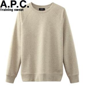 A.P.C. HOMME PRE-COLLECTION TRAINING CREW SWEAT h27264アーペーセー トレーニング スウェット シャツ クルーネック 生成 APC メンズ|sneeze