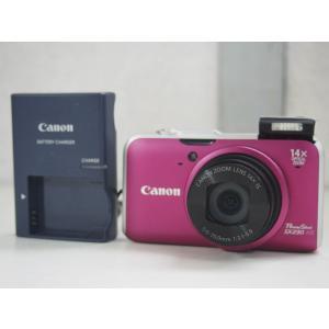 【中古】Canonキャノン コンパクトデジタルカメラ PowerShotパワーショット 1210万画素 SX230 HS レッド