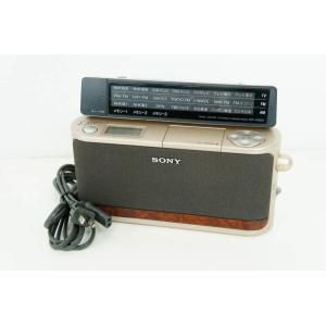 中古 C SONYソニー PLLシンセサイザーポータブルラジオ ICF-A100V ゴールド