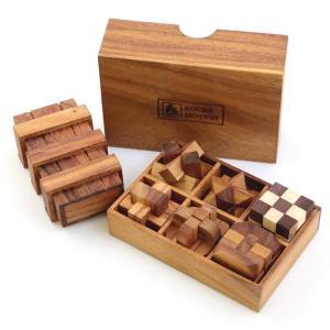 ROCKSMOTION ウッドパズル 6+1個セット 木製おもちゃ 箱入り 知育パズル 頭の体操 ロ...