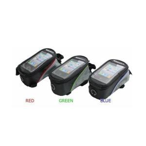 スマートフォン ホルダー iphone (6 plusが丁度のサイズ) 自転車 バイクのフレームに 取り付け簡単 スマートフォンのタッチ操作も可能  3色  ツーリング スマホ|snowkmu1