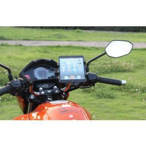 タブレットホルダー マウント バーマウント バイク 自転車 ツーリング 最適 ナビ 携帯 アイフォン を装着 通勤 通学 ツーリング プレゼントに!|snowkmu1