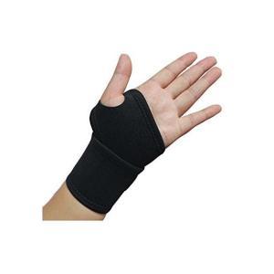 通気性、伸縮性があり、安定した固定感と保温性が特徴の手首保護用サポーターです。   マジックで調製で...