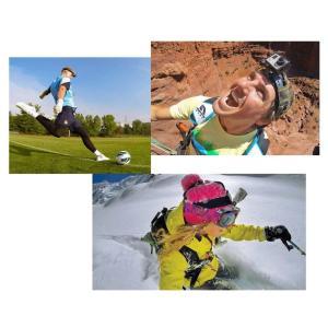 GoPro 対応 ゴープロ 完璧アクセサリー8点セット 一脚+チェストベルト+ヘッドストラップ+三脚マウント+3WAY調整ベース+バッグ+ネジキャリー |snowkmu1|02