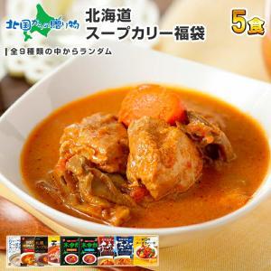 北海道 スープカレー レトルト 福袋 5食 セット ギフト カレー レトルトカレー 札幌 ベル食品 ご当地カレー|snowland