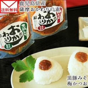 ポイント消化 ご飯のお供 黒豚みそ 薩摩おかわりの素 セット 2種 梅かつお お取り寄せ メール便 セール snowland