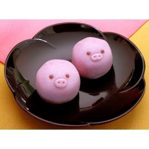 プチギフト[ブタ]どうぶつまんじゅう2ヶ入(和菓子/饅頭)...