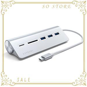 Satechi Type-C アルミニウム USBハブ & Micro/SDカードリーダー (iMa...
