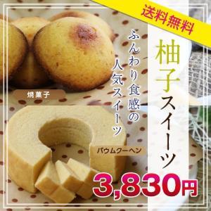 送料無料 柚子スイーツギフトセット バウムクーヘン 焼菓子 長野県 柚子 ギフトセット so-suke