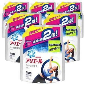 【ケース販売】アリエール 液体 プラチナスポーツ 洗濯洗剤 詰め替え 超特大 1.34kg×6個