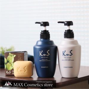 【KnS】 体臭 加齢臭 対策 薬用 石鹸 スカルプシャンプー コンディショナー メンズ 消臭 まとめ 柿のさち | KnS薬用柿渋オールセットA(石鹸+シャン+コンデ)|soapmax