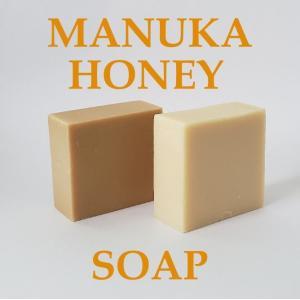 マヌカハニー石鹸 マヌカハニー 手作り石けん 無添加 はちみつ 手作り石鹸 コールドプロセス 石鹸 保湿  乾燥肌 潤い ハチミツ 天然成分 固形 洗顔 全身|soaptenten