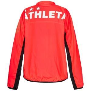 【セール】ATHLETA (アスレタ) サッカー フットサル ウェア ジュニア ピステスーツ 上下セット 02318J-50(蛍光RED)|sobuesports|02