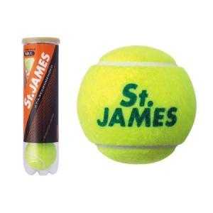 ダンロップ DUNLOP 硬式 テニスボール St.JAMES セントジェームス 4球入り プレッシャーボール STJAMESI4DOZ|sobuesports