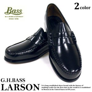 G.H バス G.H Bass  ラーソン ローファー ペニーローファー レザーシューズ ビジネスシューズ LARSON メンズ ( ghb09 )