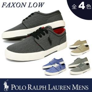 ポロ ラルフローレン メンズ POLO Ralph Lauren MEN'S スニーカー ファクソンロー FAXON LOW ヴィンテージコットン シャンブレイ ローカット シューズ 靴|socalworks