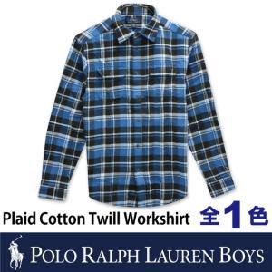 ポロ ラルフローレン ボーイズ POLO Ralph Lauren BOYS コットン チェック シャツ 長袖 ワイシャツ フランネル ネルシャツ トップス ロゴ メンズ 男性用 socalworks