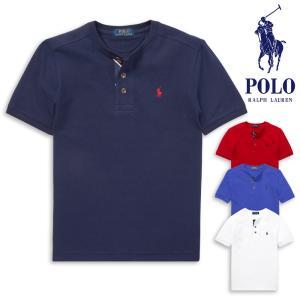 180587b8d545d ポロ ラルフローレン ボーイズサイズ POLO Ralph Lauren BOYS ヘンリーネック メッシュ 半袖 Tシャツ ポニー刺繍 鹿の子  メンズ レディース ユニセックス