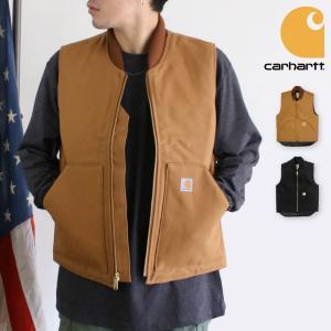 カーハート CARHARTT ダック ベスト DUCK VEST ジャケット ブルゾン コート アウター ワーク ウェア キルティング 重ね着 12オンス ロゴ US規格 メンズ|socalworks