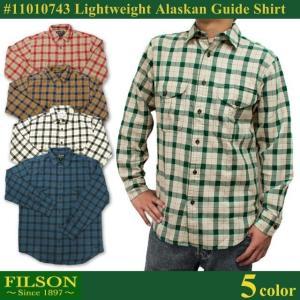 【期間限定特別価格】 フィルソン FILSON ライトウェイト アラスカン ガイド シャツ 長袖 シャツ ネルシャツ 3.5オンス メンズ|socalworks