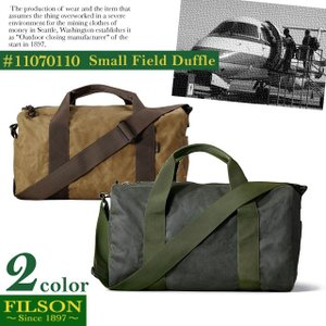 【期間限定特別価格】 フィルソン FILSON フィールド ダッフル スモール FIELD DUFFLE SMALL 鞄 ボストンバッグ ティンクロス|socalworks