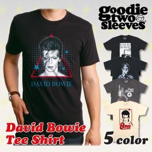 【2,000円ポッキリ!!】グッディトゥスリーブス GOODIE TWO SLEEVES デヴィッド・ボウイ 半袖Tシャツ David Bowie プリント バンド フェス メンズ レディース|socalworks
