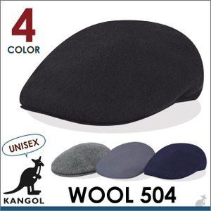 【決算セール】カンゴール KANGOL ウール 504 WOOL ハンチング キャップ 帽子 カンガルー メンズ レディース socalworks