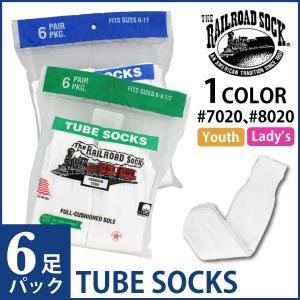 【1,000円ポッキリ!!】レイルロードソック RAILROAD SOCK チューブソックス 6ペア パック TUBE SOCKS 6PAIR レイルロード ソックス 靴下 レディース|socalworks