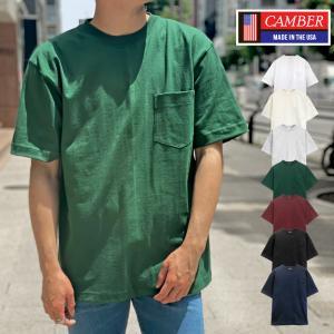 【クリアランスセール!!】 キャンバー CAMBER MAX WEIGHT POCKET 8オンス ポケット 半袖 Tシャツ メンズ ( 男性用 ) socalworks