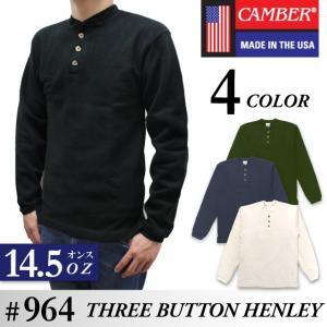 キャンバー CAMBER 長袖 Tシャツ ヘンリーネック エックス トレメ ジャージー ロンT 14.5オンス 厚手 アメリカ製 socalworks
