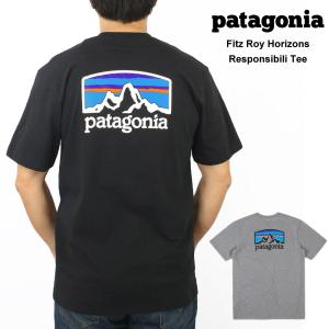 パタゴニア Patagonia メンズ Fitz Roy Horizons Tシャツ プリント 半袖...