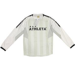 アスレタ ATHLETA ジュニア カラープラクティスシャツ ホワイト サッカー フットサル 長袖 プラシャツ 練習着 ロングシャツ 02336J 10|soccershop-players